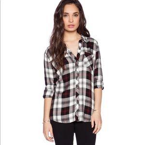 Rails hunter plaid shirt white black cherry combo